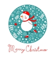 Beautiful Christmas card with frostie girl ice vector image vector image