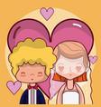 beautiful wedding couple cartoon vector image vector image