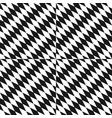 black and white seamless pattern optical art vector image