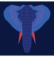 Blue and orange low poly elephant vector image vector image