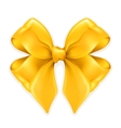 Bow golden vector image vector image