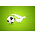 Bright soccer logo design vector image vector image