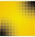 Colored yellow black halftone background vector image vector image