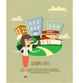 Company business flyer vector image vector image