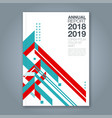 cover annual report 1050 vector image