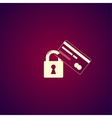 Credit Card Security icon Eps 10 vector image vector image