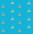 cute cartoon whales pattern vector image vector image