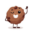 cute funny donut cartoon character vector image vector image