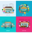 Different stores icons set vector image vector image