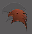 eagle had logo in bronze gradients with big shadow vector image