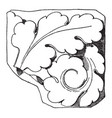 early gothic ornament design is found in notre vector image vector image