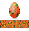 Easter egg decorated with vintage floral pattern vector image vector image