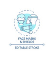 face masks and shields concept icon vector image