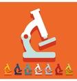 Flat design microscope vector image vector image