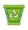 Garbage can with recycle arrows icon image