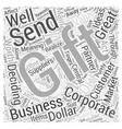 great corporate gift Word Cloud Concept vector image vector image