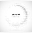 halftone circle frame abstract dots logo emblem vector image vector image