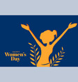 happy womens day attractive banner with girl in vector image