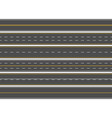 highway road marking horizontal straight asphalt vector image vector image