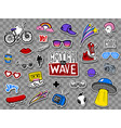 hipsters cool stickers set vector image vector image
