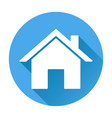 home icon white silhouette on blue round vector image