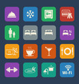 hotel icons set flat design for website and vector image vector image