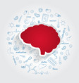 icons for medical specialties neurology and brain vector image vector image