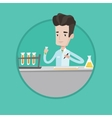 Laboratory assistant working with test tubes vector image vector image