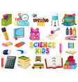 large set school items on white background vector image