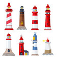 lighthouse cartoon port security ocean or sea vector image