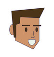 man face head vector image vector image