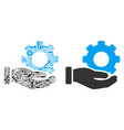 mechanic gear service hand collage of repair tools vector image