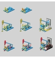 Oil rig eight consecutive icons of construction vector image