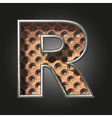old metal letter r vector image vector image