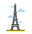 paris eiffel tower landmark travel to france vector image vector image