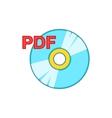 PDF book icon cartoon style vector image vector image