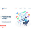 programming process landing page template vector image vector image