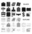 realtor agency black icons in set collection for vector image vector image
