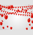 red balloons confetti concept celebration vector image