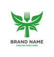 restaurant natural logo design template vector image