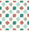 retro seamless geometric pattern scandinavian vector image
