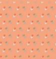 retro stylized flowers on orange background vector image vector image