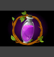 round wreath twigs and magic potion in a vector image vector image