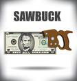 SawBuck 5 vector image vector image