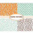 Set of seamless stroke patterns Hand-drawn vector image