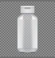 shampoo or gel empty plastic bottle package vector image vector image