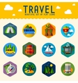 summer icons Flat design trend vector image