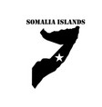 symbol of somalia islands and map vector image vector image