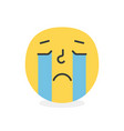 trendy crying emoji smile eps10 vector image vector image