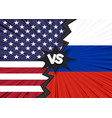 usa versus russia flag vector image vector image